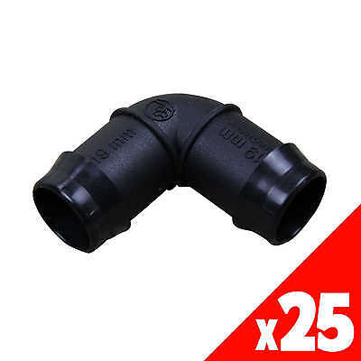 ELBOW Poly 19mm Low Density Fittings Garden Water Irrigation 44865 BAG of 25
