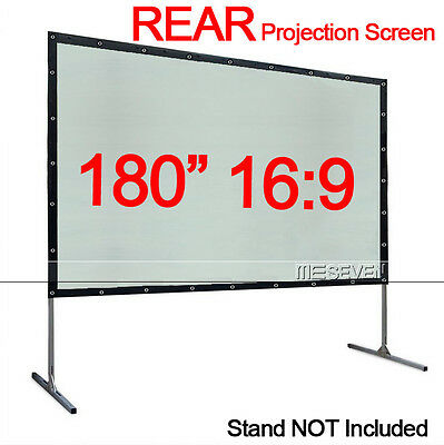 "180"" 16:9 Back Rear Portable Projection Screen Film for DLP 3D LED LCD Projector"