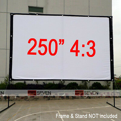 250 Inch 4:3 Projection Screen Film for LED DLP 3D Projector Beam Outsides Movie