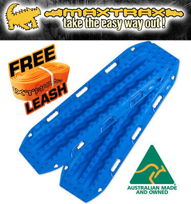 Maxtrax Blue 4Wd Recovery Tracks Sand Mud Snow 4X4 Max Trax Extraction Tred