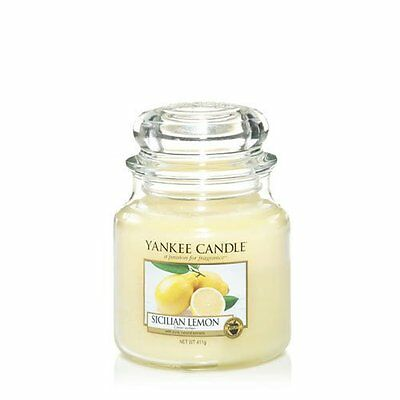 Yankee Candle Candela Giara Media Sicilian Lemon
