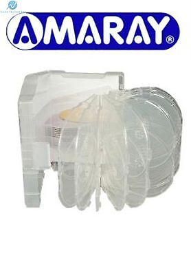 10 x 24 Way Clear Megapack DVD 64mm [24 Discs] New Empty Replacement Amaray Case