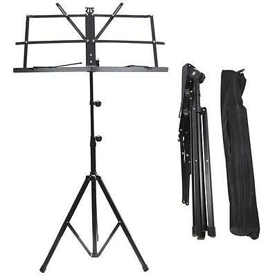 Adjustable Sheet Music Stand Holder Folding Foldable with Carry Case Bag Metal