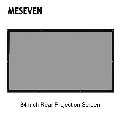 """84"""" 4:3 PVC Back Rear Projector Screen Film Curtains for Any HD Projectors"""