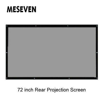 72 Inch 16:9 Behind Back Rear Projection Screen Film for Home Theater Projectors