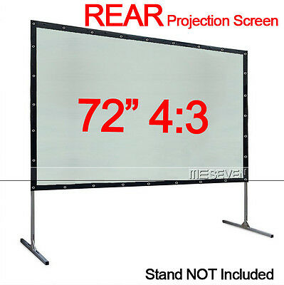"72"" 4:3 PVC Behind Back Rear Projection Screen Film for Home Cinema HD Projector"