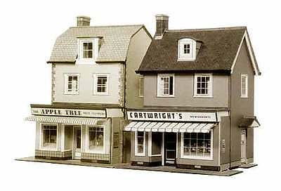 2 Country Town Shops - Superquick B22 - OO Building Card kit - free post