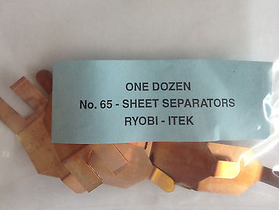 Qty 12 Ryobi Itek Sheet separators ( Cat Whiskers )