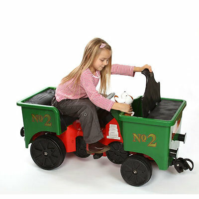 New Little Play Train Pedal Coal Truck With Storage Box And Real Couplers - Cool