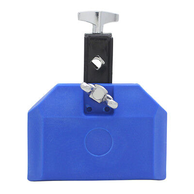 Plastic Cowbell High Pitched w/ Mallet Crisp Sound Percussion Accessory Blue