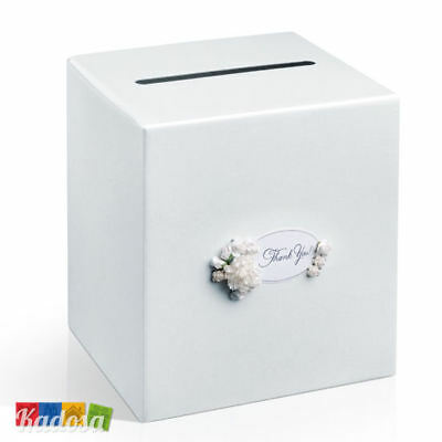 Gift Box Matrimonio Perla + Fiori - Scatola Porta Buste Wedding Card Box Regali