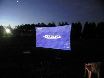 "Projection Screen, 240"" X 72"" (20' X 6'), Dj Screen, Front/rear Projector"
