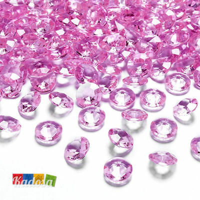 100 Diamanti Decorativi 12 mm ROSA - Diamantini Centrotavola Party Elegante Pink