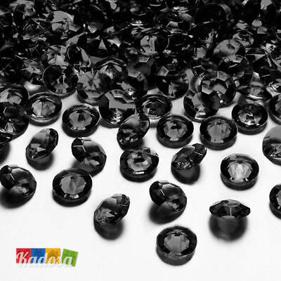 100 Diamanti Decorativi 12mm NERI - Diamantini Centrotavola Party Elegante Black