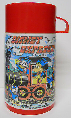 VINTAGE! 1980's Aladdin Disneyland Express Train Thermos-Complete