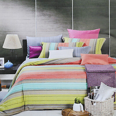 North Home - Fiesta 100% Cotton 4pc Duvet Cover Set