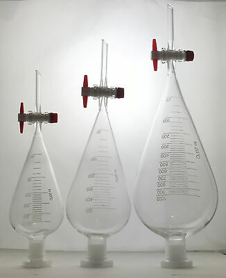 Borosilicate Glass Separating Funnel with PTFE (Teflon) Stopcock With graduated