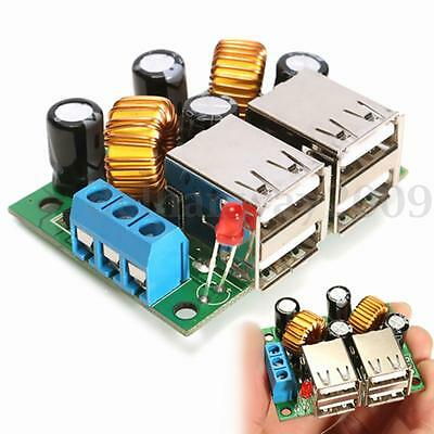 DC 12V 24V 40V to 5V 5A 4.8*3.6cm Adjustable USB Step-down Power Supply Module
