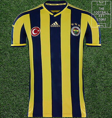 Fenerbahce Home Shirt - Official Adidas Short Sleeved Mens Shirt - All Sizes
