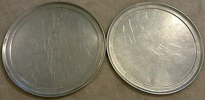 "2 X 13"" Aluminum Pizza Pans American Metalcraft 1300 Commercial Grade Ships Free"