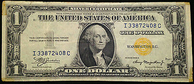 1935-A NORTH AFRICA / EMERGENCY NOTE $1 One Dollar Bill, WWII US Currency WW2