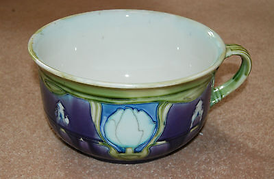 Superb Secessionist Minton Art Nouveau tube-lined Chamber Pot Design No 7.