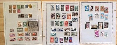 F14 Tunisia Stamps 1888- 1988 Pages Hinged and loose Red Tunisie Overprint Arms