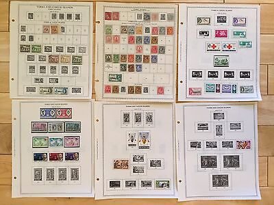 F16 Turks and Caicos Islands Stamps 1867- 1978 Minkus Hinged KGV KGVI Penny