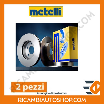 2 Dischi Freno Anteriori Metelli Smart City-Coupe (450) 0.8 Cdi Kw:30 1999>2004
