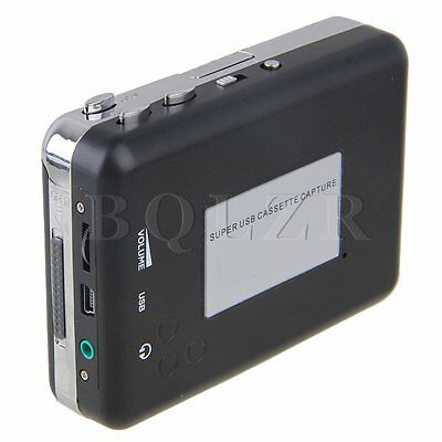 Portable USB Cassette Digital Tape to MP3 Player with Earphone USB Cable BQLZR