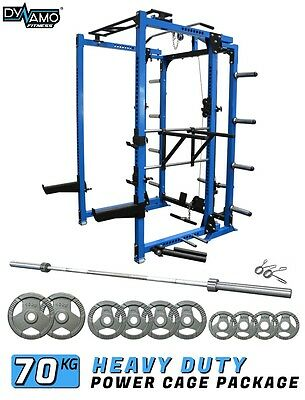 Squat Rack / Power Cage FOLDING Olympic Package 70 KG For Home Gym 400kg Rating