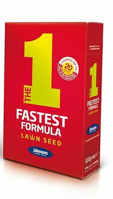 Johnsons The 1 Fastest Formula Lawn Grass Seed 500g Covers 20m/2