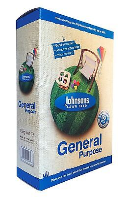 Johnsons General Purpose Lawn Grass Seed 1.5kg Carton Covers 60m/2