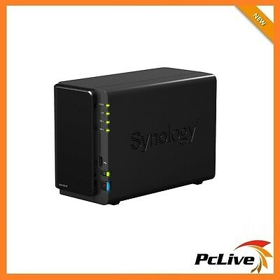 Synology DiskStation DS216+II 2-Bay NAS Server 4K USB 3.0 Network Storage Backup