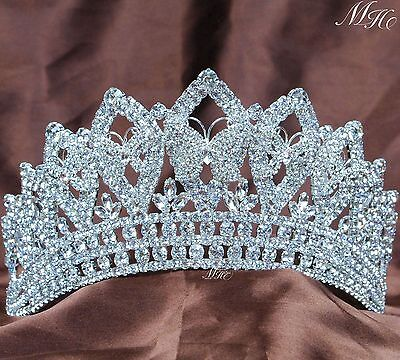 Butterfly Brides Tiara Wedding Headband Rhinestones Beauty Pageant Party Costume
