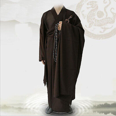 7432 New Shaolin Buddhist Monk Manyi Kesa Robes Coffee Lay Meditation Gown gift