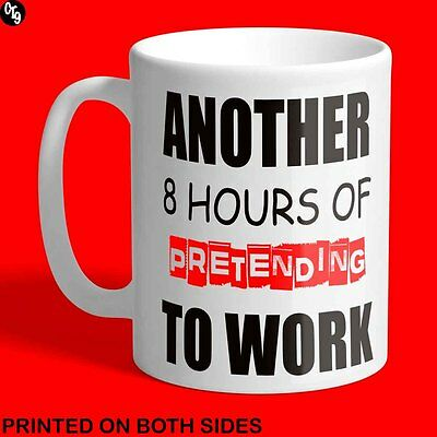 New Work Humour Novelty Gift Ceramic Coffee Tea Mug - Free Delivery