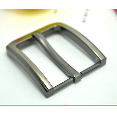 1 X Zinc Alloy Pin Clip Buckle for Men Leather Belt Spare Replacement 40mm Gray