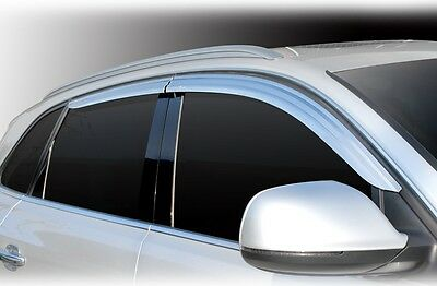For Audi Q5 2008 -2017 Chrome Wind Deflectors Set (4 pieces)