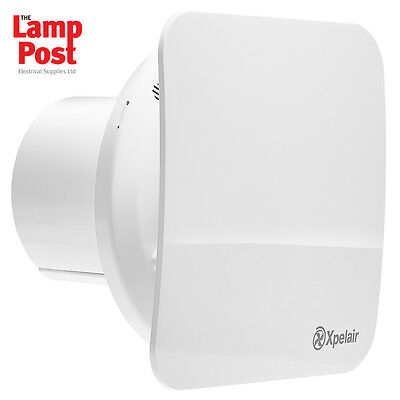"Xpelair 4"" C4TS Simply Silent Contour 4"" 100mm Square Bathroom Timer Fan"
