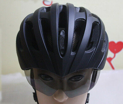 JAVA Bicycle Cycling Helmet With UV Goggles Glasses Adjustable L 57-62cm Black