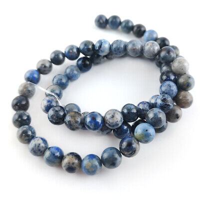 Dumortierite Round Beads 6mm Blue 60+ Pcs Gemstones DIY Jewellery Making Crafts