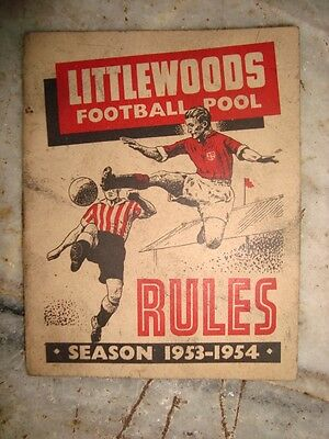 Old Vintage Small Size Foot ball Club Rule Book from England 1953