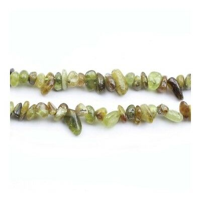 Strand of 110+ Green Garnet 5x8mm Chip Beads Y02170