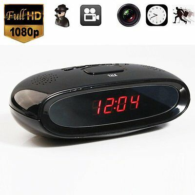 Alarm Clock HD Spy Camera Covert Recorder DV Motion Detection + Remote Control