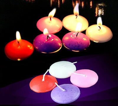 10pcs Round Cute Floating Candles Wedding Festival Party Decor -3 Color