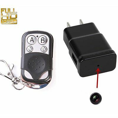 HD DVR Plug Charger SPY Hidden Camera Video Vioce Sound Recorder Motion Detect