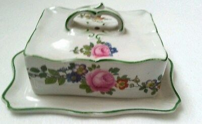 British Pottery Butter Cup Vtg Old English Rose Kitchen European Pottery Flowers