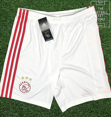 Ajax Home Shorts - Official Adidas Boys Football Shorts - All Sizes