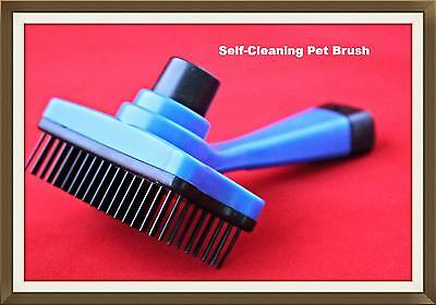 Pet Dog Cat Grooming Self Cleaning Brush Comb Slicker Hair Trimming Shedding Fur